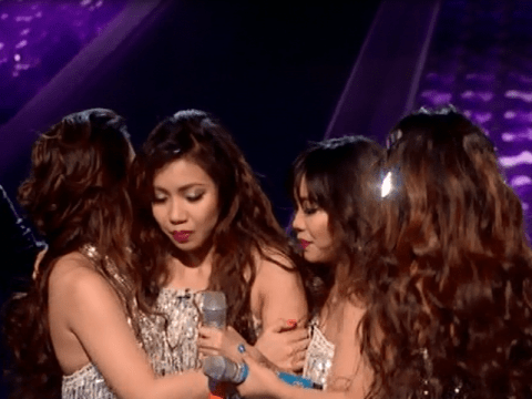 The X Factor: Olly Murs rushes to help 4th Impact as Celina nearly faints live on stage