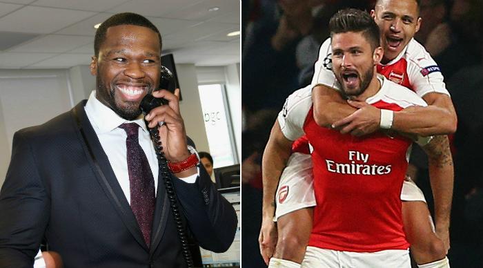 50 Cent set for big payout if Arsenal beat Tottenham