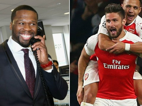 50 Cent set for big payout if Arsenal beat Tottenham