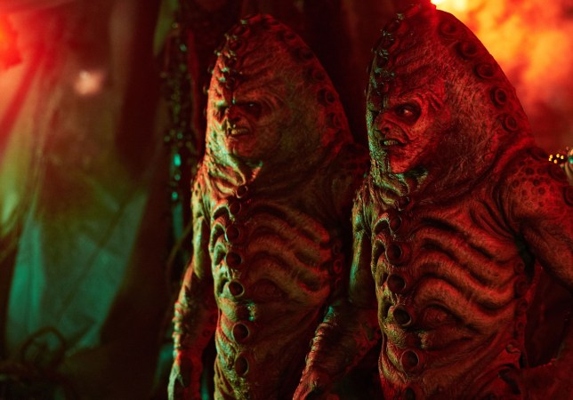 WARNING: Embargoed for publication until 00:00:01 on 03/11/2015 - Programme Name: Doctor Who - TX: 07/11/2015 - Episode: INVERSION OF THE ZYGONS (By Peter Harness and Steven Moffat) (No. 8) - Picture Shows: ***EMBARGOED UNTIL 3rd NOV 2015*** zygons - (C) BBC - Photographer: Simon Ridgway