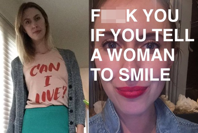 This woman is receiving rape threats for explaining why she doesn't smile on command Credit: Twitter/noraborealis