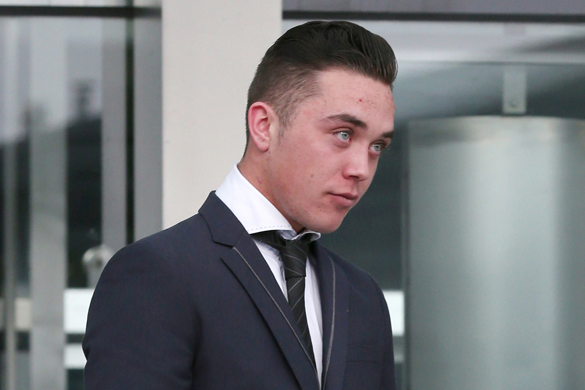 Aaron O'Neill outside court (Picture: Collins)