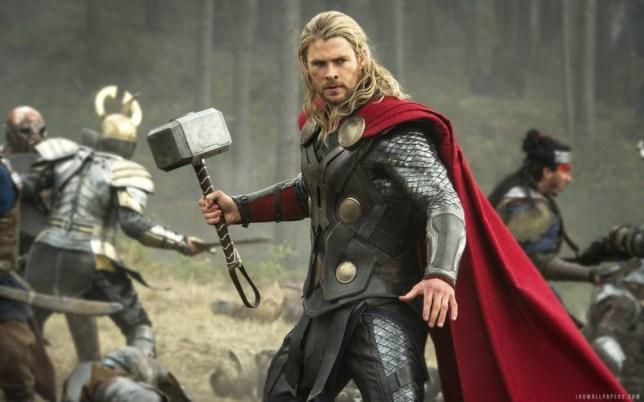 Film: Thor, The Dark World (2013), starring Chris Hemsworth as Thor.