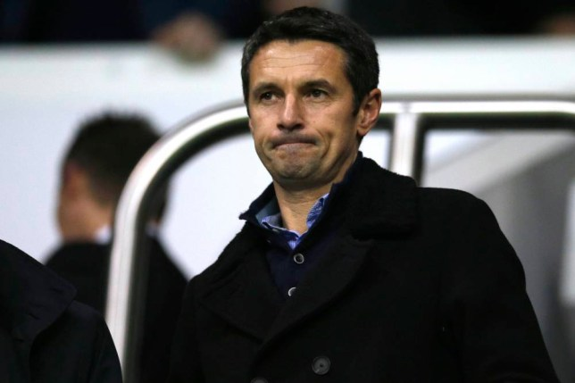"Football - Tottenham Hotspur v Aston Villa - Barclays Premier League - White Hart Lane - 2/11/15 New Aston Villa manager Remi Garde in the stands before the match Action Images via Reuters / Andrew Couldridge Livepic EDITORIAL USE ONLY. No use with unauthorized audio, video, data, fixture lists, club/league logos or ""live"" services. Online in-match use limited to 45 images, no video emulation. No use in betting, games or single club/league/player publications. Please contact your account representative for further details."