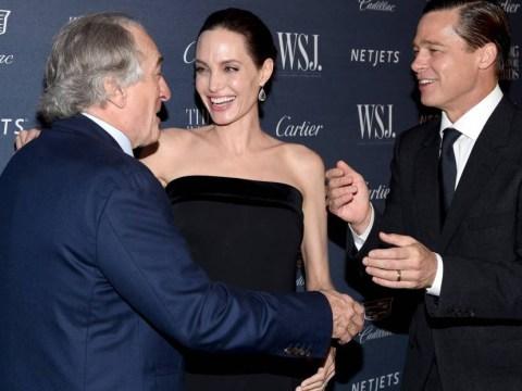 Robert de Niro got very familiar with Brangelina at a New York awards bash