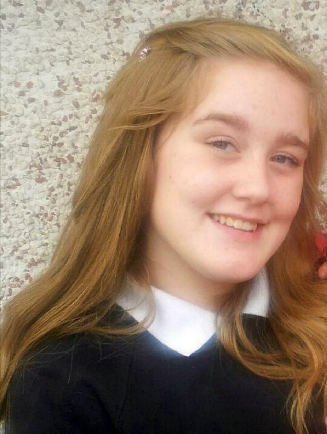 BEST QUALITY AVAILABLE Undated handout photo issued by Leicestershire Police of Kayleigh Haywood, as two men are being questioned over the disappearance of the 15-year-old girl who has not been seen for five days. PRESS ASSOCIATION Photo. Issue date: Tuesday November 17, 2015. Kayleigh, from Measham, was last seen at 6pm on Friday evening when she was dropped off outside the outside Ibstock Community College and last spoke to her parents on Saturday morning, but has not been heard from since. See PA story POLICE Missing. Photo credit should read: Leicestershire Police/PA Wire NOTE TO EDITORS: This handout photo may only be used in for editorial reporting purposes for the contemporaneous illustration of events, things or the people in the image or facts mentioned in the caption. Reuse of the picture may require further permission from the copyright holder.