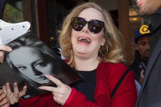 Mandatory Credit: Photo by Startraks Photo/REX Shutterstock (5411904j) Adele Adele Out and About, New York, America - 20 Nov 2015 Adele Greeted by Fans Outside of her TriBeCa Hotel