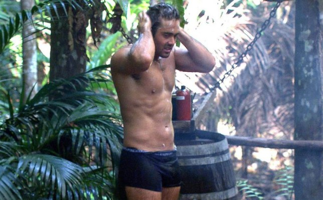 ***Embargo, not to be used before 21:00, 19 Nov 2015 - Editorial use - No Merchandising***.. Mandatory Credit: Photo by ITV/REX Shutterstock (5398663dl).. Spencer Matthews in the shower.. 'I'm A Celebrity...Get Me Out Of Here!' TV Show, Australia - 19 Nov 2015.. ..