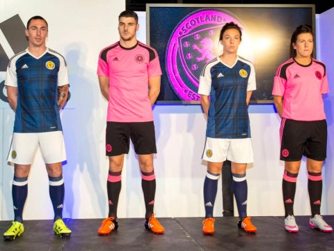 Scotland national team unveil new pink away kit and tartan home strip for World Cup campaign