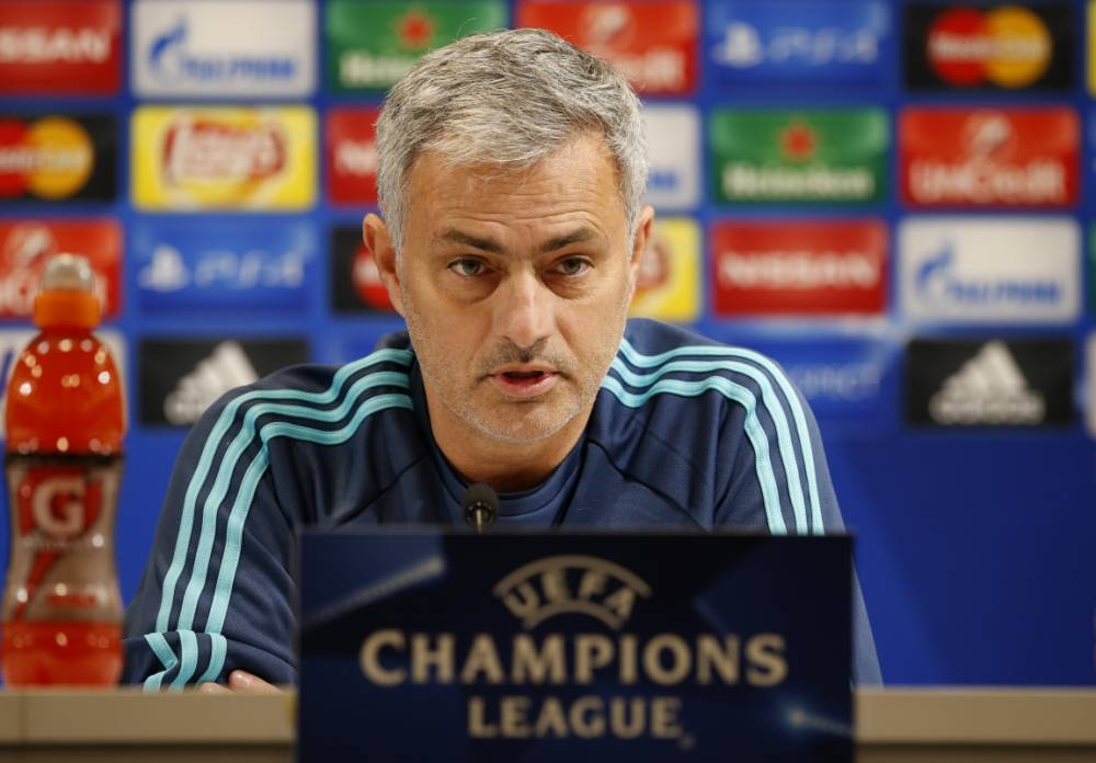Football - Chelsea Press Conference - Sammy Ofer Stadium, Haifa, Israel - 23/11/15 Chelsea manager Jose Mourinho during the press conference Action Images via Reuters / John Sibley Livepic EDITORIAL USE ONLY.