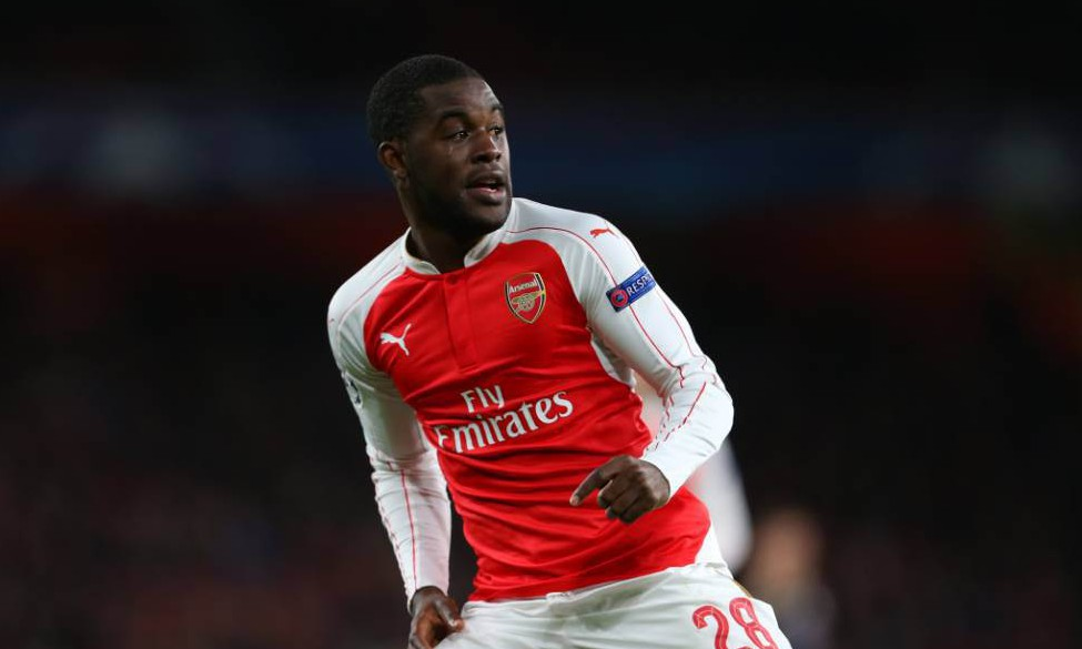 LONDON, ENGLAND - NOVEMBER 24: Joel Campbell of Arsenal during the UEFA Champions League match between Arsenal and Dinamo Zagreb at the Emirates Stadium on November 24, 2015 in London, United Kingdom. (Photo by Catherine Ivill - AMA/Getty Images)