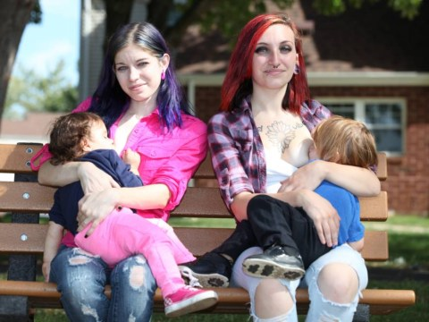 The young mums who breastfeed each other's children