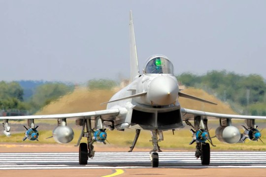 British Prime Minister, David Cameron is presenting his case to the Commons today for the UK launching air strikes against Islamic State ( ISIS / ISil ) Typhoon fighter jets from RAF Coningsby in Lincolnshire. [File picture] Picture by Richard Calver