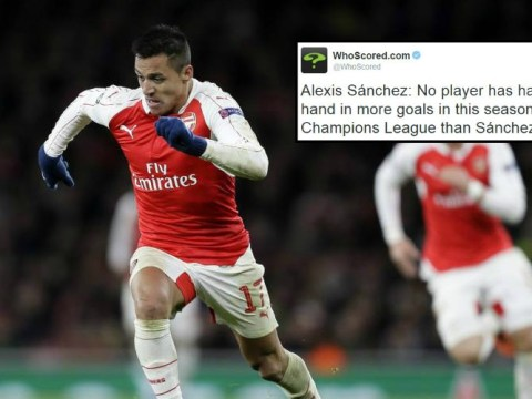 Arsenal's Alexis Sanchez has most direct goal contributions and assists in this year's Champions League