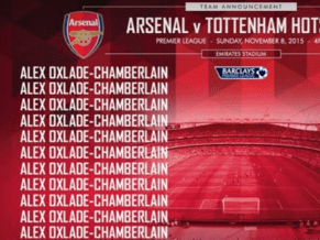 Arsenal Twitter gaffe suggests Alex Oxlade-Chamberlain is going to face Tottenham by himself
