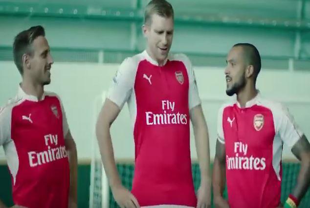 Arsenal stars Nacho Monreal, Theo Walcott and Per Mertesacker star in bizarre Ethiopian beer advert