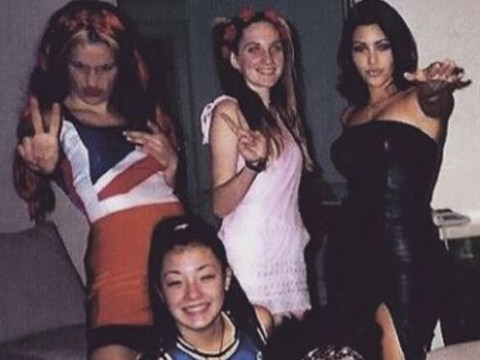 Kim Kardashian once dressed up as Victoria Beckham in the Spice Girls and here's the proof