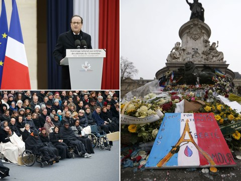 Paris attacks: France holds memorial service to honour 130 victims