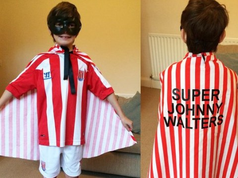 Young Stoke City fan creates the greatest super hero costume of all time