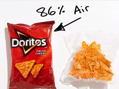 Total G has worked out the exact crisp to air ratio in a packet of crisps