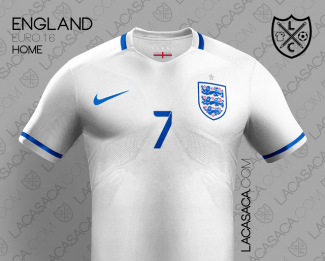 2ee52a036f7 Is this what England's new kit will look like? (Picture: Lacasaca). England,  as expected, qualified for Euro 2016 ...