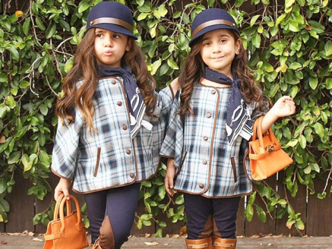 These four-year-old twins are running the fashion game