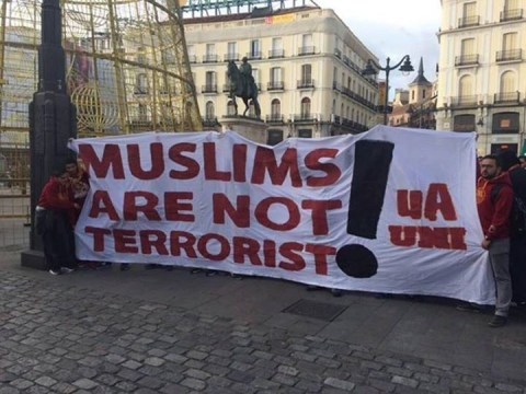 Galatasaray fans display 'Muslims are not terrorists' banner before Champions League clash