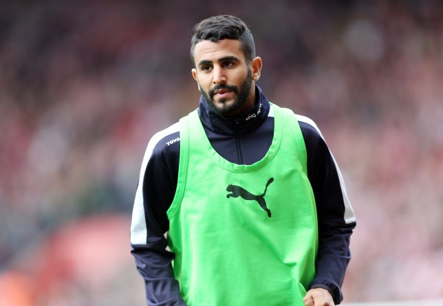 SOUTHAMPTON, ENGLAND - OCTOBER 17: Riyad Mahrez of Leicester City warms up during the Premier League match between Southampton and Leicester City at St. Mary's on October 17, 2015 in Southampton , United Kingdom. (Photo by Plumb Images/Leicester City FC via Getty Images)