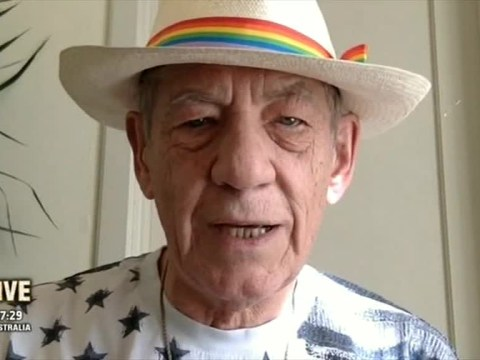 Sir Ian McKellen appeared on I'm A Celebrity Get Me Out Of Here Now! in support of George Shelley