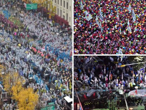 Revolution in Seoul: Tens of thousands spill out onto the streets in massive anti-government protest