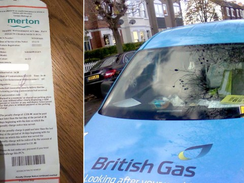 'British gas driver put his parking ticket on my car'