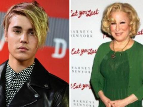 Justin Bieber isn't happy with Bette Midler or 'Britt Meddler' for that matter