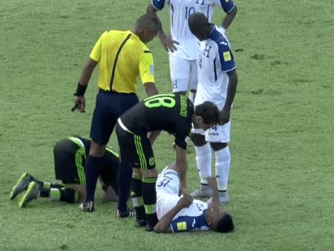 Graphic video shows Honduras star Luis Garrido suffering horrific leg injury in match v Mexico