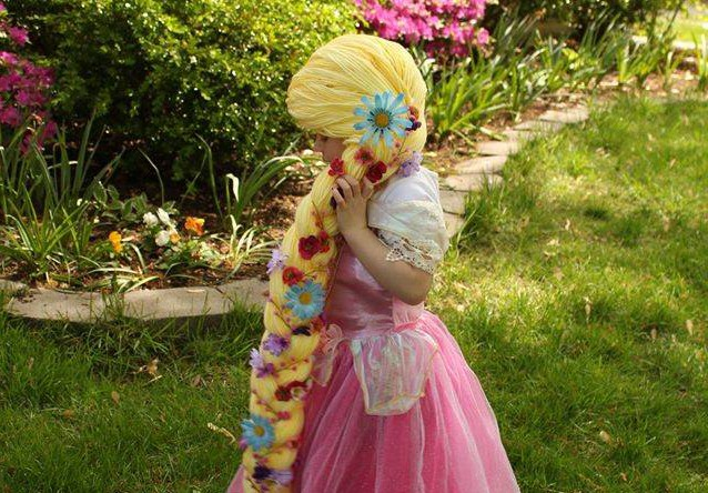 Woman knits incredible Disney wigs so kids with cancer can feel like princesses