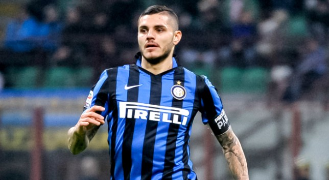 STADIO GIUSEPPE MEAZZA, MILAN, ITALY - 2015/11/22: Mauro Icardi in action during the Serie A match between FC Internazionale and Frosinone Calcio. FC Internazionale go top after winning the match versus Frosinone Calcio. The final result is 4-0. Jonathan Biabiany, Mauro Icardi, Jeison Murillo and Marcelo Brozovic are the scorers. (Photo by Nicolò Campo/Pacific Press/LightRocket via Getty Images)