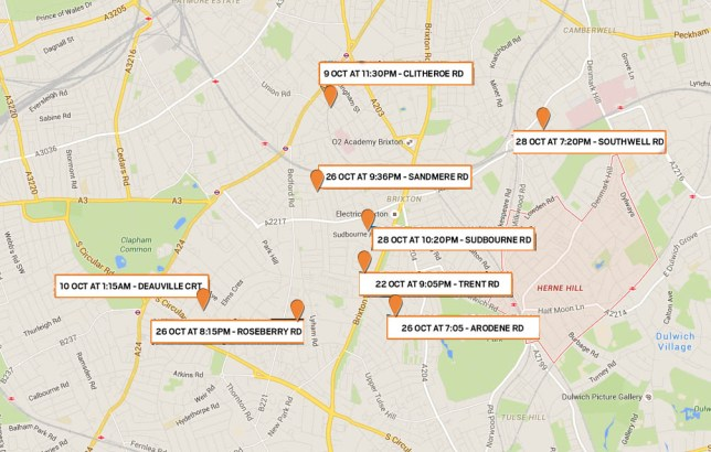 South London Map Google.Man Charged Over String Of Sexual Assaults In South London Metro News
