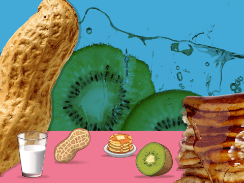 The next emoji update could include pancakes, peanuts, kiwi, and a glass of milk
