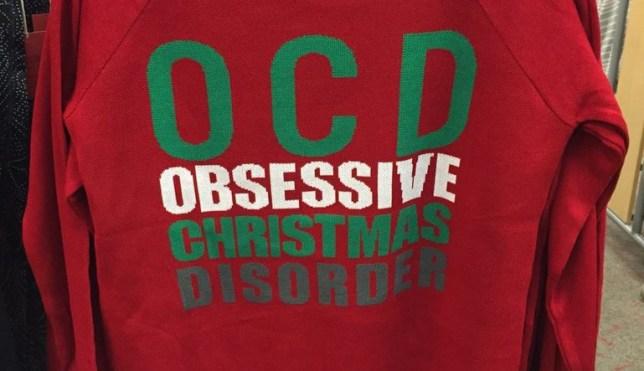 target ocd obsessive christmas disorder red jumper