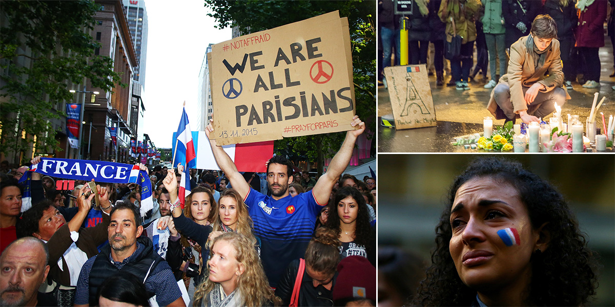 In pics: Powerful images show solidarity with Paris in face of terror attacks