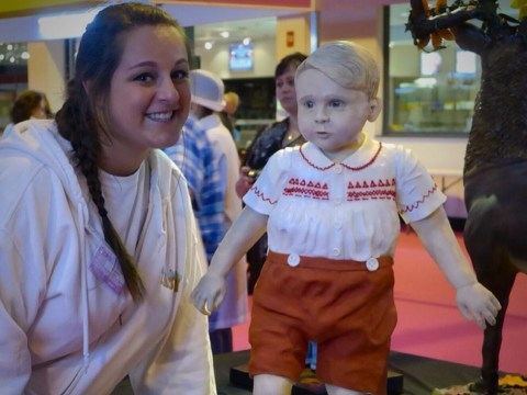 Someone has made a life size Prince George cake and it's, er, slightly terrifying