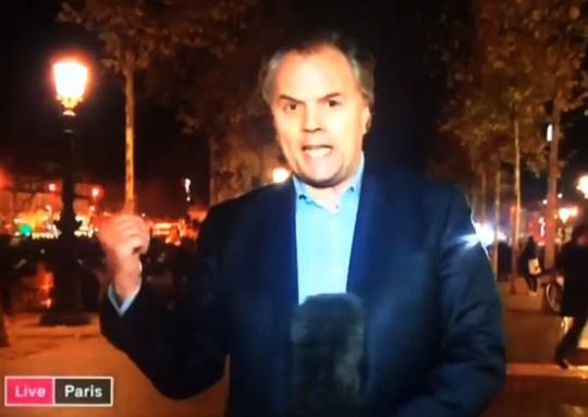 False alarm in Paris Source: Sky News