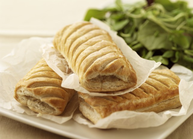 Mandatory Credit: Photo by Food and Drink/REX Shutterstock (2119922a) Sausage Rolls Food and Drink