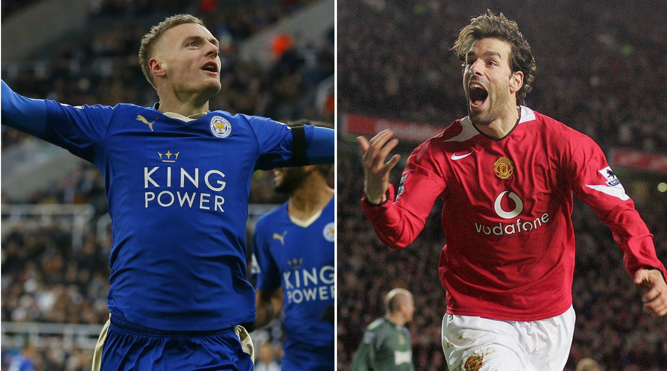 Stats suggest Ruud van Nistelrooy's goal-scoring record is better than Jamie Vardy's