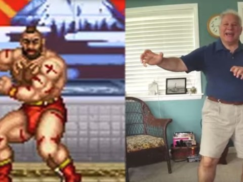 This guy's dad has re-enacted every victory pose from Street Fighter