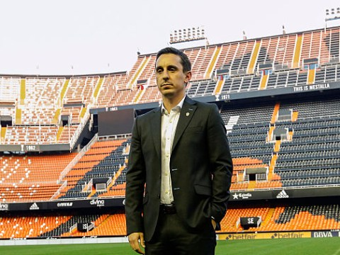 Manchester United add Valencia manager Gary Neville to shortlist of replacements for Louis van Gaal – report
