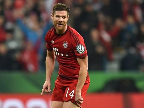 Watch former Liverpool midfielder Xabi Alonso prove he's still got it with stunning strike for Bayern Munich