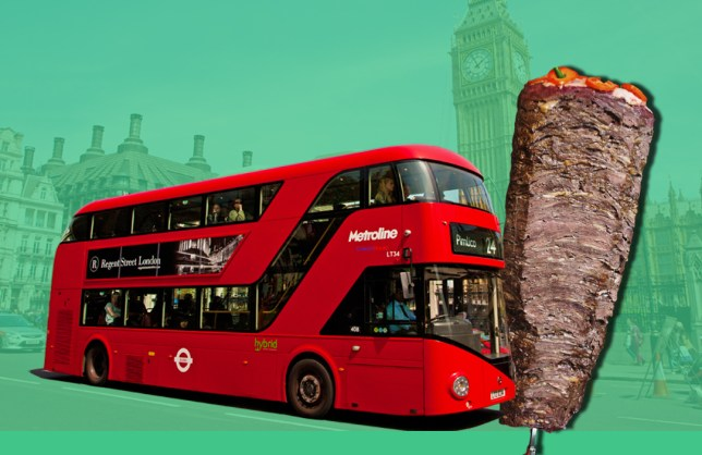 London buses will soon run on kebab and chip fat - just like us on a Friday night! Credit: Getty Images/METRO
