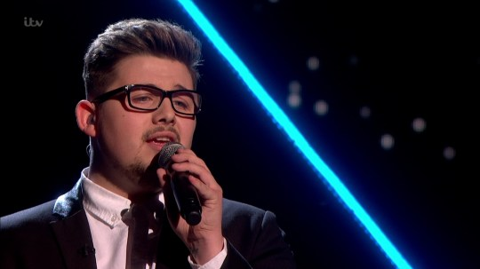 Che Chesterman performing 'Love Is a Losing Game' on the semi final of 'The X Factor'.