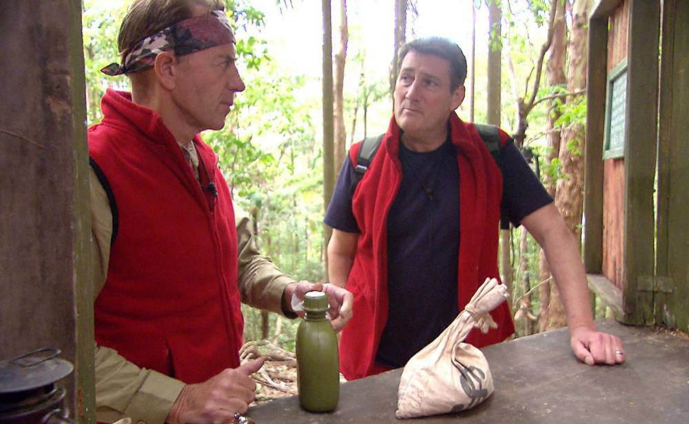 EMBARGO, NOT TO BE USED BEFORE 20:30 03 Dec 2015 - EDITORIAL USE ONLY - NO MERCHANDISING Mandatory Credit: Photo by ITV/REX Shutterstock (5470454ce) Dingo Dollar Challenge: Outback Shack and return to camp - Tony Hadley and Ducan Bannatyne 'I'm A Celebrity...Get Me Out Of Here!' TV Show, Australia - 03 Dec 2015