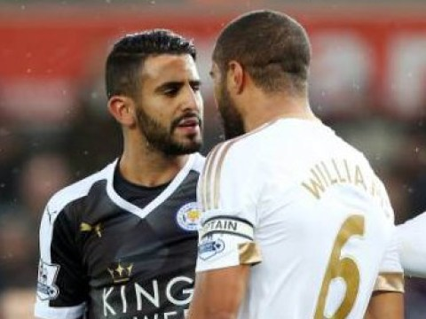 Swansea City captain Ashley Williams attempted to storm Leicester City bus after Riyad Mahrez spat – report